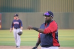 Big Papi at warm-ups